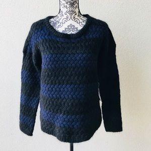 😍NWT Lord&taylor purple black knit warm sweater M
